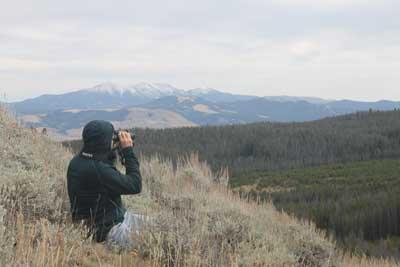 RangeSir looking for wildlife.