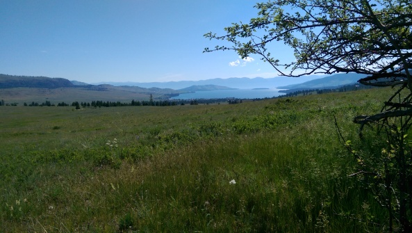 West of Elmo, Montana looking toward Flathead Lake.