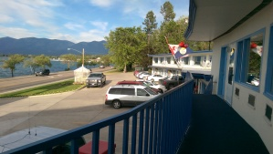 My accommodations last week were a classic mom and pop place, built right on the highway  with an awesome view of the lake.