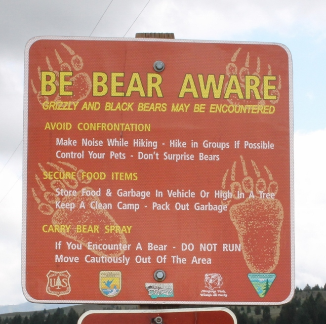 Not all likely bear places have signs like this.
